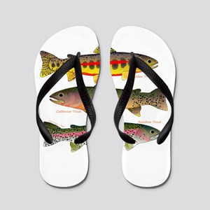 3 Western Trout Flip Flops