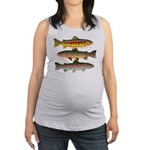 3 Western Trout Maternity Tank Top