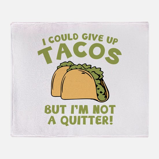 I Could Give Up Tacos Stadium Blanket