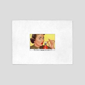 Vintage Poster Advertising woman Ke 5'x7'Area Rug