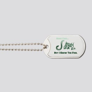 I Know Fish Green. Fish Retro Tuna RCM Wi Dog Tags