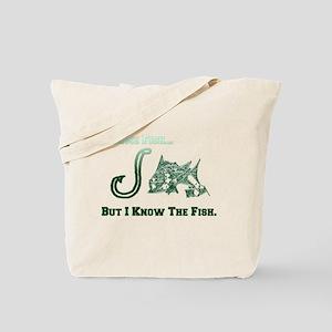 I Know Fish Green. Fish Retro Tuna RCM Wi Tote Bag