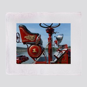 Red fire truck seat shot 2 Throw Blanket