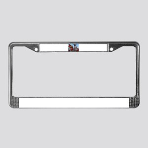 Red fire truck seat shot 2 License Plate Frame