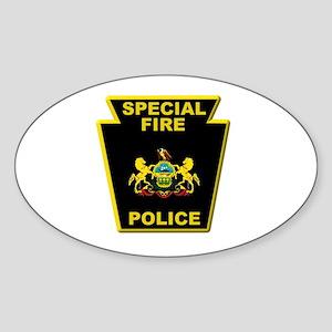 Fire police badge Sticker