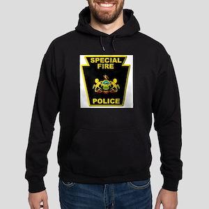 Fire police badge Hoodie (dark)