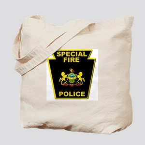 Fire police badge Tote Bag