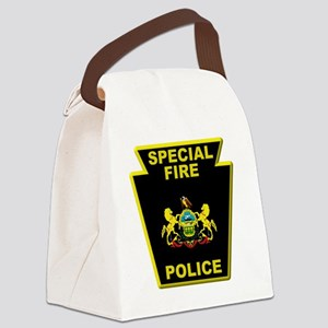 Fire police badge Canvas Lunch Bag