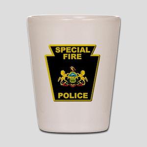 Fire police badge Shot Glass