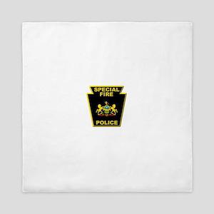 Fire police badge Queen Duvet