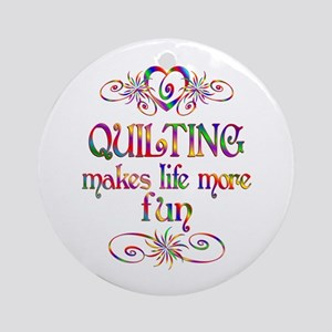 Quilting More Fun Ornament (Round)