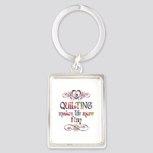 Quilting More Fun Portrait Keychain