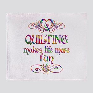 Quilting More Fun Throw Blanket