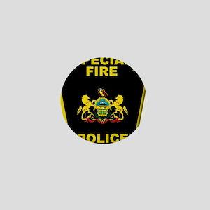 Fire police badge Mini Button