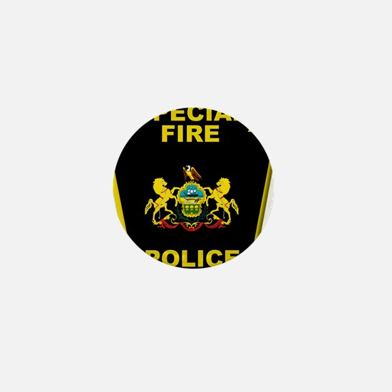 Fire police badge Mini Button