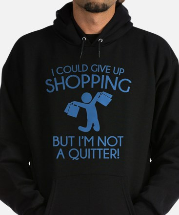 I Could Give Up Shopping Hoodie (dark)