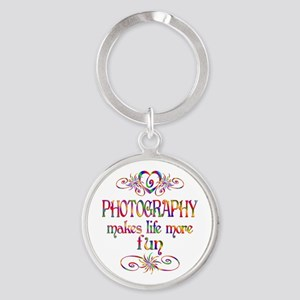 Photography More Fun Round Keychain