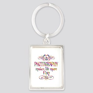 Photography More Fun Portrait Keychain