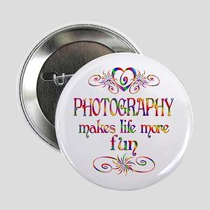 """Photography More Fun 2.25"""" Button"""