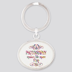 Photography More Fun Oval Keychain