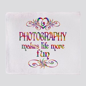 Photography More Fun Throw Blanket