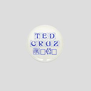 Ted Cruz 2016-Kon blue 460 Mini Button