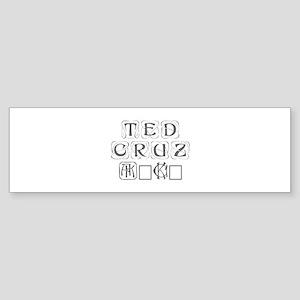 Ted Cruz 2016-Kon gray 460 Bumper Sticker