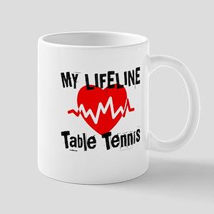 My Lifeline Table Tennis 11 oz Ceramic Mug