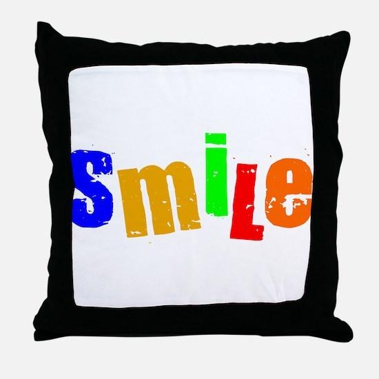 Scott Designs Smile Throw Pillow