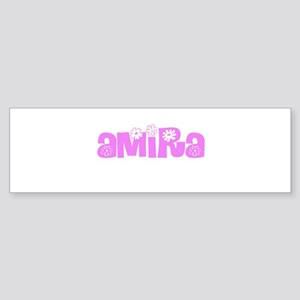 Amira Flower Design Bumper Sticker