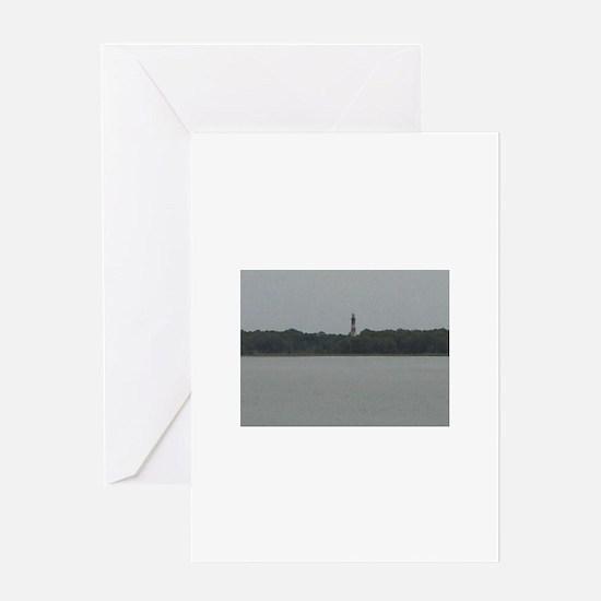 Asateague lighthouse distant shot Greeting Cards