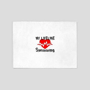 My Lifeline Swimming 5'x7'Area Rug