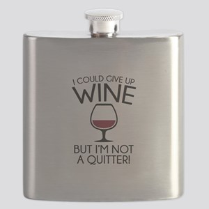I Could Give Up Wine Flask