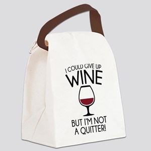 I Could Give Up Wine Canvas Lunch Bag