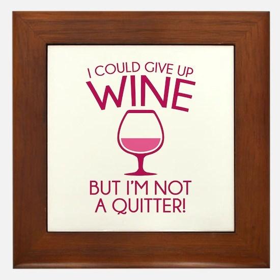 I Could Give Up Wine Framed Tile