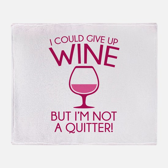 I Could Give Up Wine Stadium Blanket