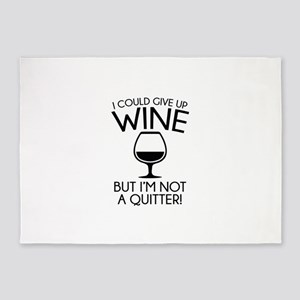 I Could Give Up Wine 5'x7'Area Rug