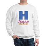 Houston Is Fantastic Sweatshirt (white)