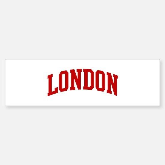 LONDON (red) Bumper Bumper Bumper Sticker