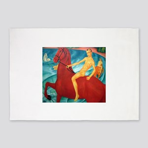Petrov-Vodkin Bathing Red Horse Rus 5'x7'Area Rug