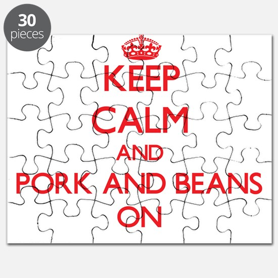 Keep Calm and Pork And Beans ON Puzzle