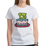 13 Year Old Birthday Cake Women's T-Shirt