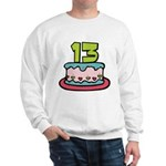 13 Year Old Birthday Cake Sweatshirt