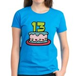 13 Year Old Birthday Cake Women's Dark T-Shirt