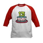 13 Year Old Birthday Cake Kids Baseball Jersey