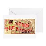 Flat Nebraska Greeting Card