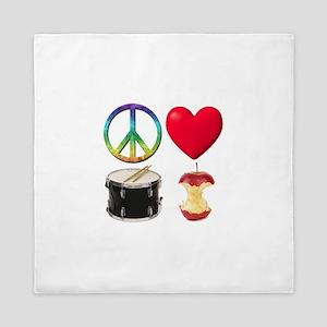 Peace Love Drum Corps Queen Duvet