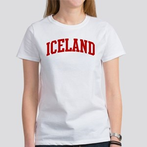 ICELAND (red) Women's T-Shirt