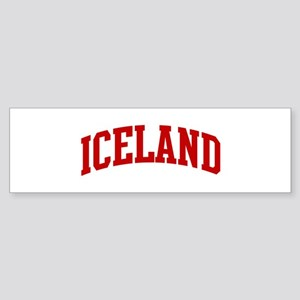 ICELAND (red) Bumper Sticker