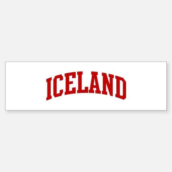 ICELAND (red) Bumper Bumper Bumper Sticker